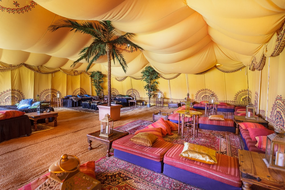 With the stunning saffron yellow interior and intricate golden coloured linings it is the perfect tribute to its foundation the flower Crocus sativus ... & Introducing the new Saffron Tent | The Arabian Tent Company