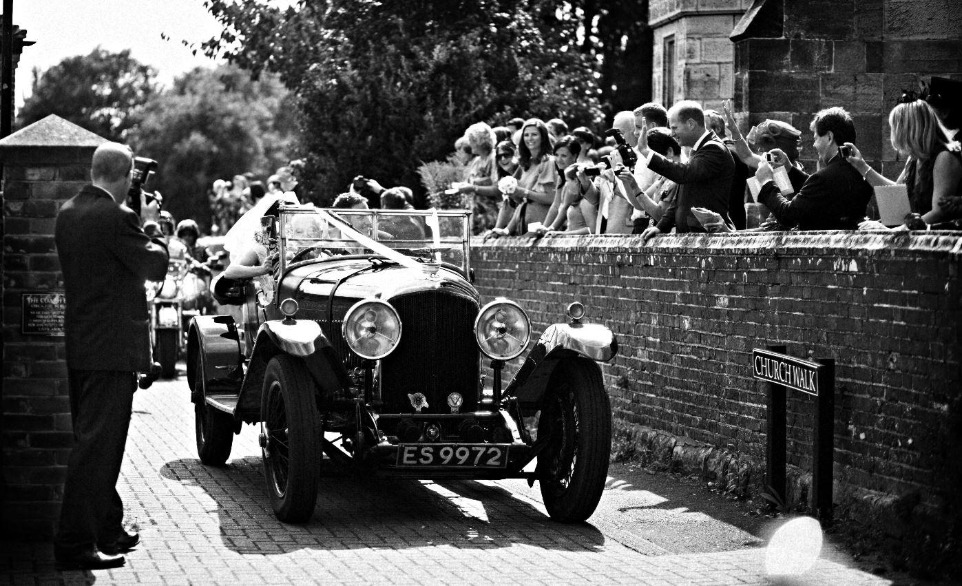 wedding car bride arrives luxury weddings